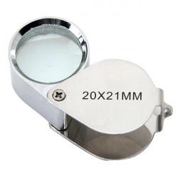 NEW 20x 21mm folding Jeweler's Magnifying Glass loupe
