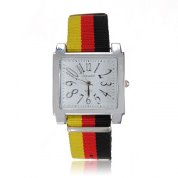 Nation Flag Canvas Watch
