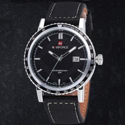 Naviforce 9048 Leather Band Waterproof Sport Watch