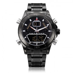 Naviforce NF9022 Military Black Date Dual Display Men Wrist Watch