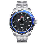 Naviforce NF9029 Silver Stainless Steel Week Date Men Wrist Watch Watch