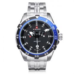 Naviforce NF9029 Silver Stainless Steel Week Date Men Wrist Watch