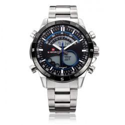 Naviforce NF9031 Dual Display Night Light Week Date Men Wrist Watch