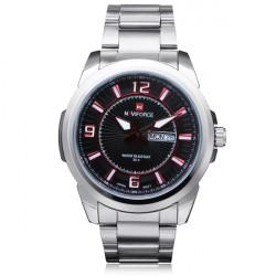 Naviforce NF9035M Number Stainless Steel Week Date Men Wrist Watch