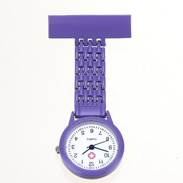 Nurse Brooch Pin Clip Stainless Steel Quartz Pocket Watch