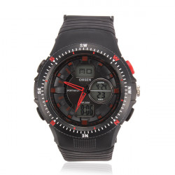 OHSEN AD 1303 Waterproof Back Light Men Watch