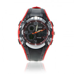 OHSEN  AD1309 Men Waterproof Sport Calendar Rubber Wrist Watch