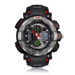 OHSEN  AD1310 Men Waterproof Sport Calendar Rubber Wrist Watch