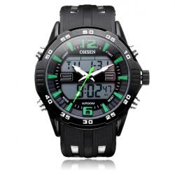 OHSEN AD2813 Sport Big Dial Back Light Date Men Quartz Wrist Watch