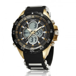 OHSEN AD2816 Sport Day Alarm Dual Display Outdoor Men Wrist Watch