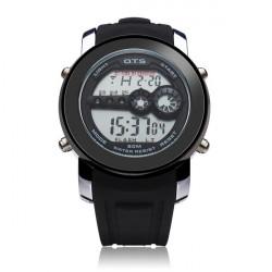 OTS 6355 Men 3 Dial Display Digital Sport Date Wrist Watch