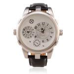 OULM Men Big Dial Round Leather Fashion Wrist Watch Watch