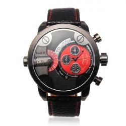 OULM Men Quartz Military Leather Fashion Unique Watch