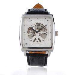 OULM Square Fashion Leather Mechanical Wrist Watch