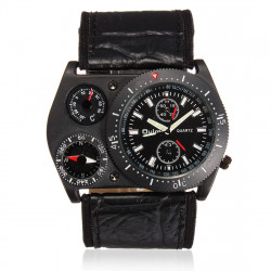 OULM Thermometer Compass Big Dial Multifunctional Men Fashion Watch
