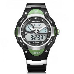Ohsen AD2819 Back Light Sport Round Dial Military Men Quartz Watch