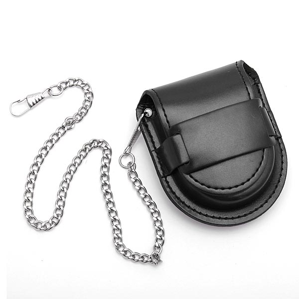 PU Leather Pocket Watch Box Holder Storage Case Purse Pouch Bag Chain Watch Tools