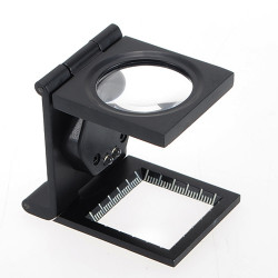 Quality 5X Fold Stand Scale Fabric Cloth Magnifier Loupe Repair Tools