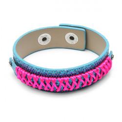 Rainbow Line Leather Bracelet Watch Band