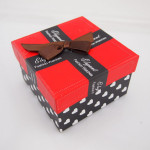 Red And Black Heart Dot Bow-knot Cardboard Wrist Watch Box Watch Tools