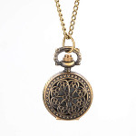 Retro Blossom Carved Pattern Necklace Pocket Watch S027 Watch