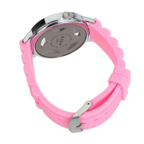 Rubber Hollow Transparent Star Rhinestone Women Wrist Watch 2021