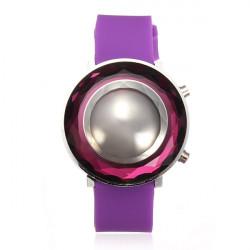 Rubber LED Three-dimensional Jelly Fashion Women Wrist Watch