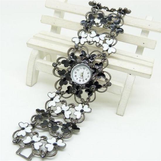 SB008 Fashion Women Skeleton Flower Bracelet  Quartz Watch 2021