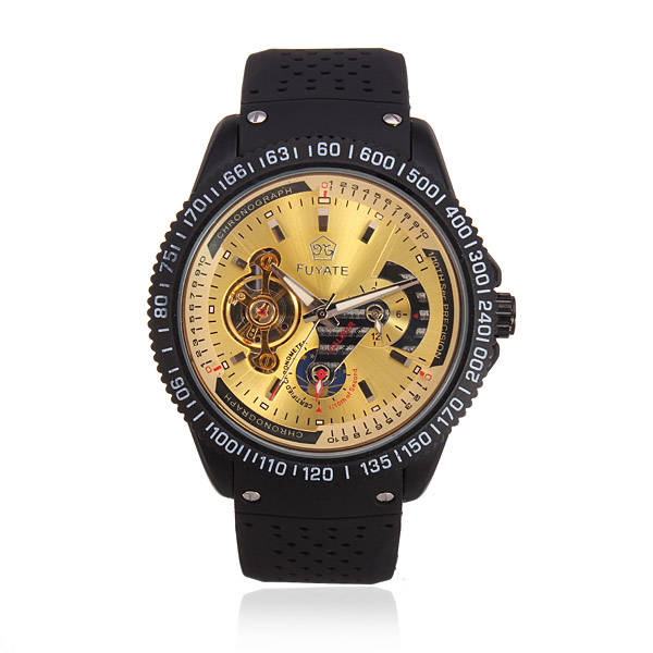 SEWOR Black Silicone Mechanical Big Dial Watch Watch