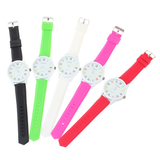 SISTER Fashion Colorful Silicone Quartz Simple Style Watch 2021