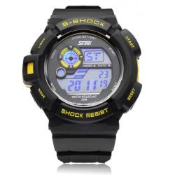 SKMEI 0939 Calendar Sport Black Rubber Digital Men Wrist Quartz Watch