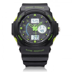 SKMEI 0955 Calendar Sport Black Rubber Digital Men Wrist Quartz Watch