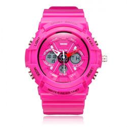 SKMEI 0966 Sport Back Light Week Date Men Women Quartz Wrist Watch