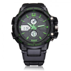 SKMEI 0990 Calendar Sport Black Rubber Digital Men Wrist Quartz Watch