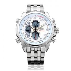 SKMEI 0993 Dual Time Back Light Chronograph Men Quartz Wrist Watch