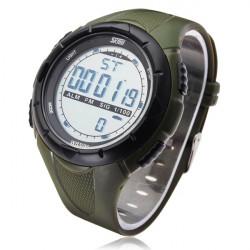 SKMEI 1025 Calendar Sport Black Rubber Digital Men Wrist Quartz Watch