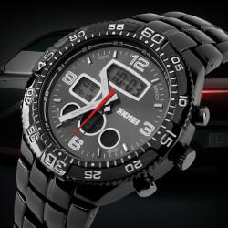 SKMEI 1031 Stainless Steel Waterproof Analog Digital Sport Watch