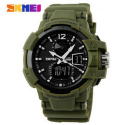 SKMEI 1040 Luminous Analog Digital Waterproof Sport Watch