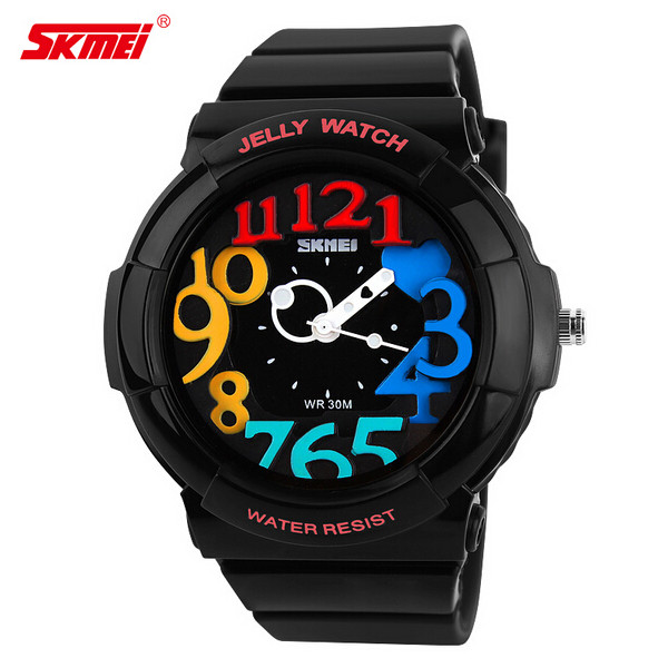 SKMEI 1042 Jelly Color Silicone Band Sport Watch Watch