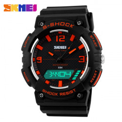 SKMEI 1057 Double Display Analog Digital Waterproof Quartz Sport Watch