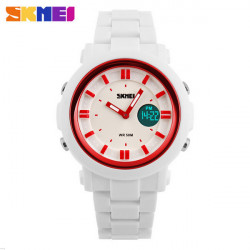 SKMEI 1062 Analog Digital Silicone Band Waterproof Sport Watch