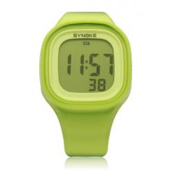 SYNOKE 66896 Silicone Jelly Sport Digital Men Women Wrist Watch