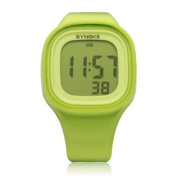 SYNOKE 66896 Silicone Jelly Sport Digital Men Women Wrist Watch Watch