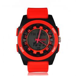SYNOKE 67656 Silicone Quartz Digital Sport Waterproof Watch
