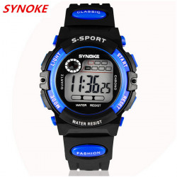 SYNOKE 99269 Child Adult LED Alarm Waterproof Sport Watch