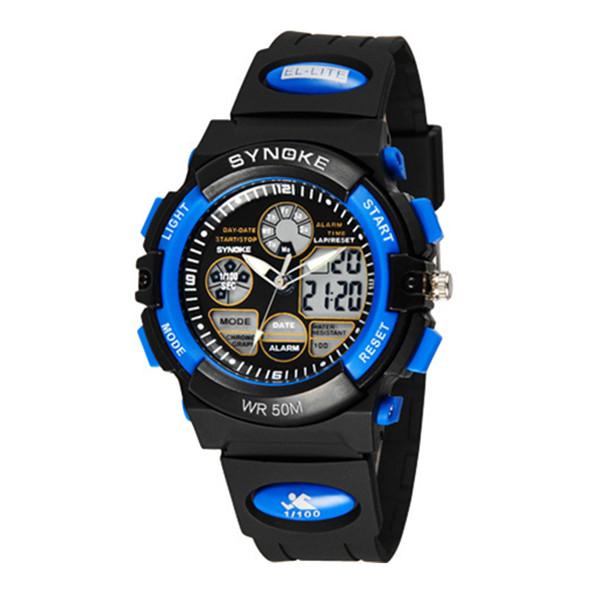 SYNOKE Children Alarm Stopwatch Waterproof Digital Sport Watch Watch