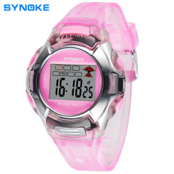 SYNOKE Children Noctilucent Waterproof Cute Cartoon Digital Watch