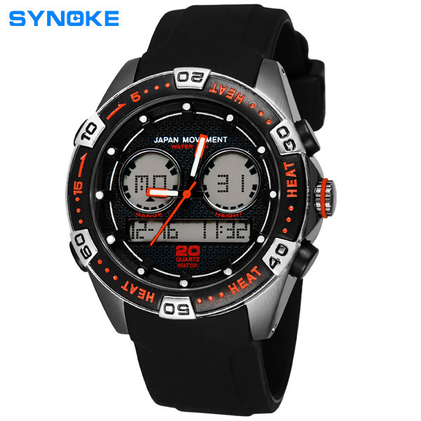 SYNOKE Men Waterproof Swimming Racing Sports Digital Wrist Watch Watch