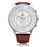 Sewor Mechanical Precision Military PU Leather Men Wrist Watch Watch