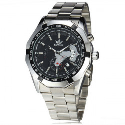 Sewor Stainless Steel Band Calendar Mechanical Watch